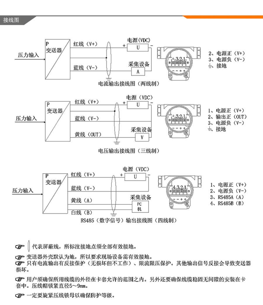NKYZ18防爆型压力变送器4-20ma、RS485进口扩散硅传感器