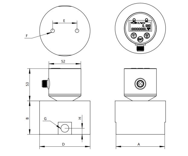 柴油汽油铸铁椭圆齿轮流量计尺寸图
